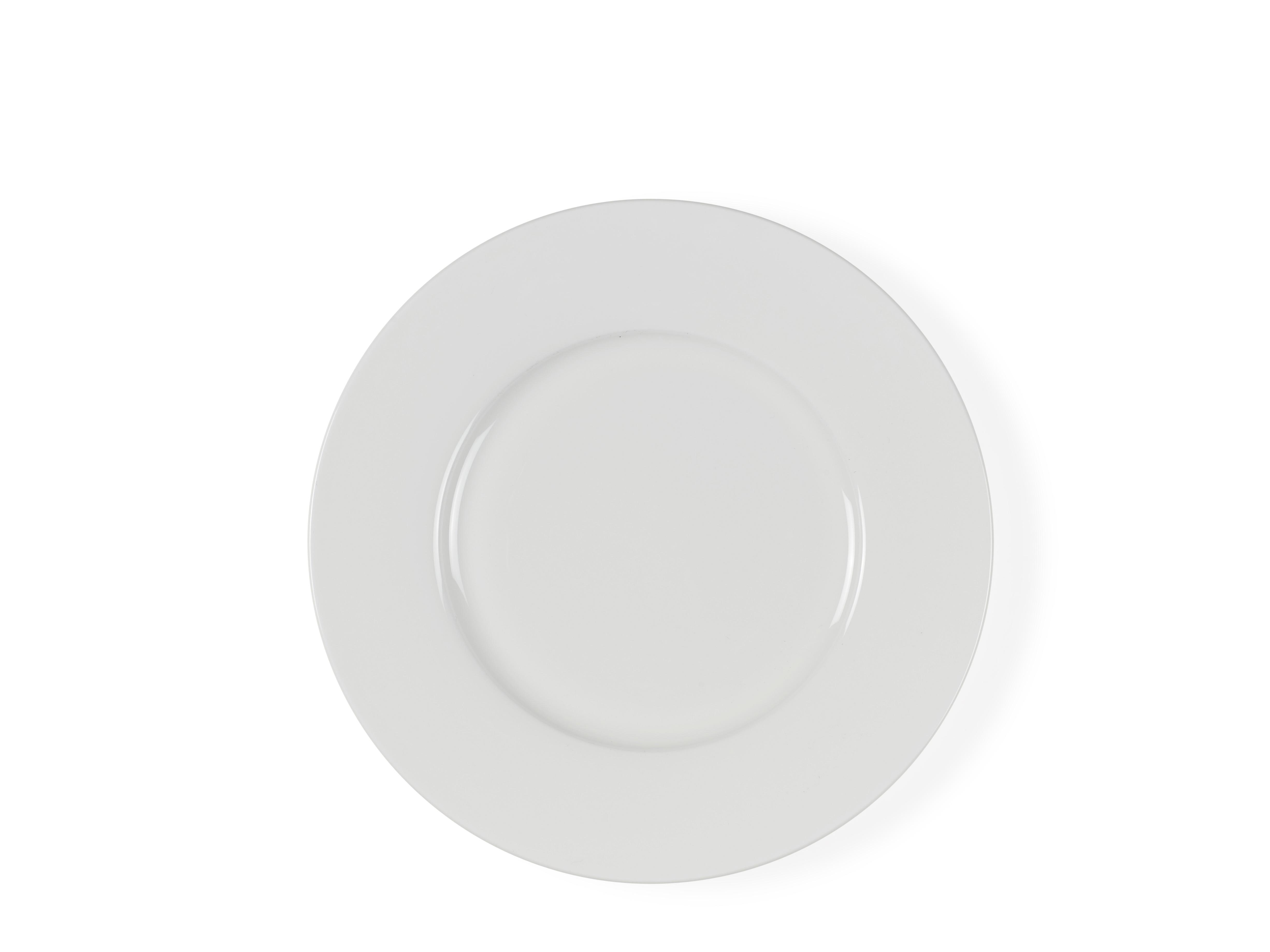 24-teilige Geschirr Set Weiß Aus Fine Bone China Porzellan