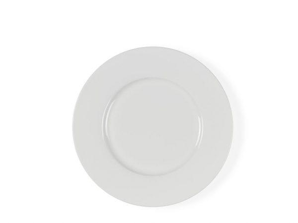 Kuchenteller aus weißem Porzellan von Christian Bitz