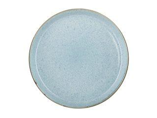 zweifarbige Essteller grau matt-hellblau glänzend