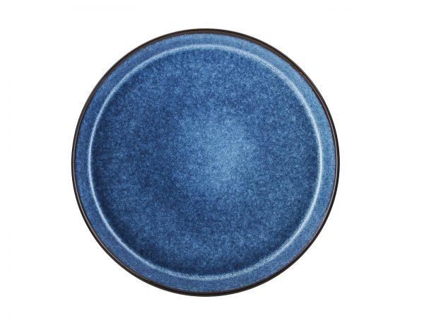 zweifarbige Essteller schwarz matt-dunkelblau glänzend