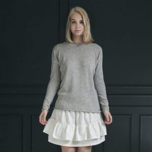 Pullover Marie Basic light grey von Care by me