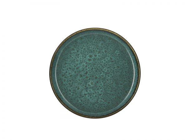 zweifarbige Kuchenteller grün matt-grün glänzend