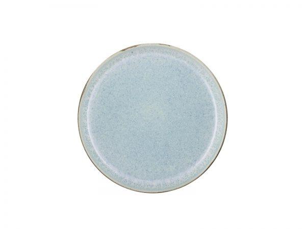 zweifarbige Kuchenteller grau matt-hellblau glänzend