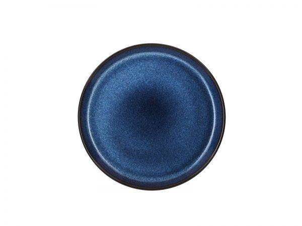 zweifarbige Kuchenteller schwarz matt-dunkelblau glänzend