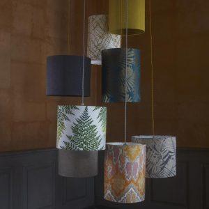 schöner Lampenschirm mit Farnblatt Motiv von EBB & FLOW