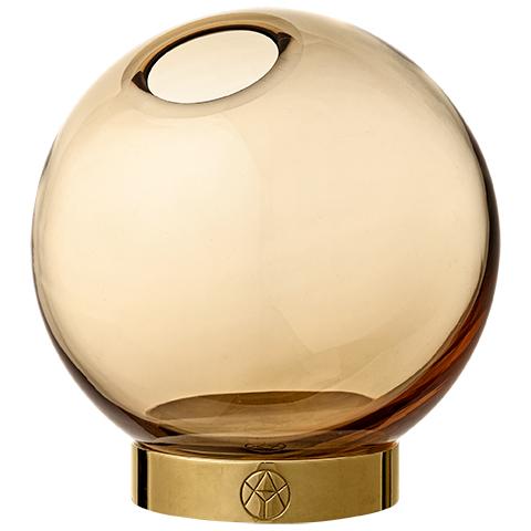Vase Globe Mini amber