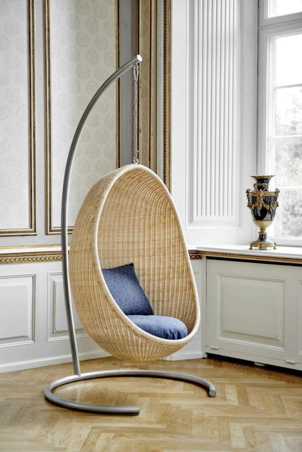 Hanging Egg Chair mit Standfuß von Sika-Design