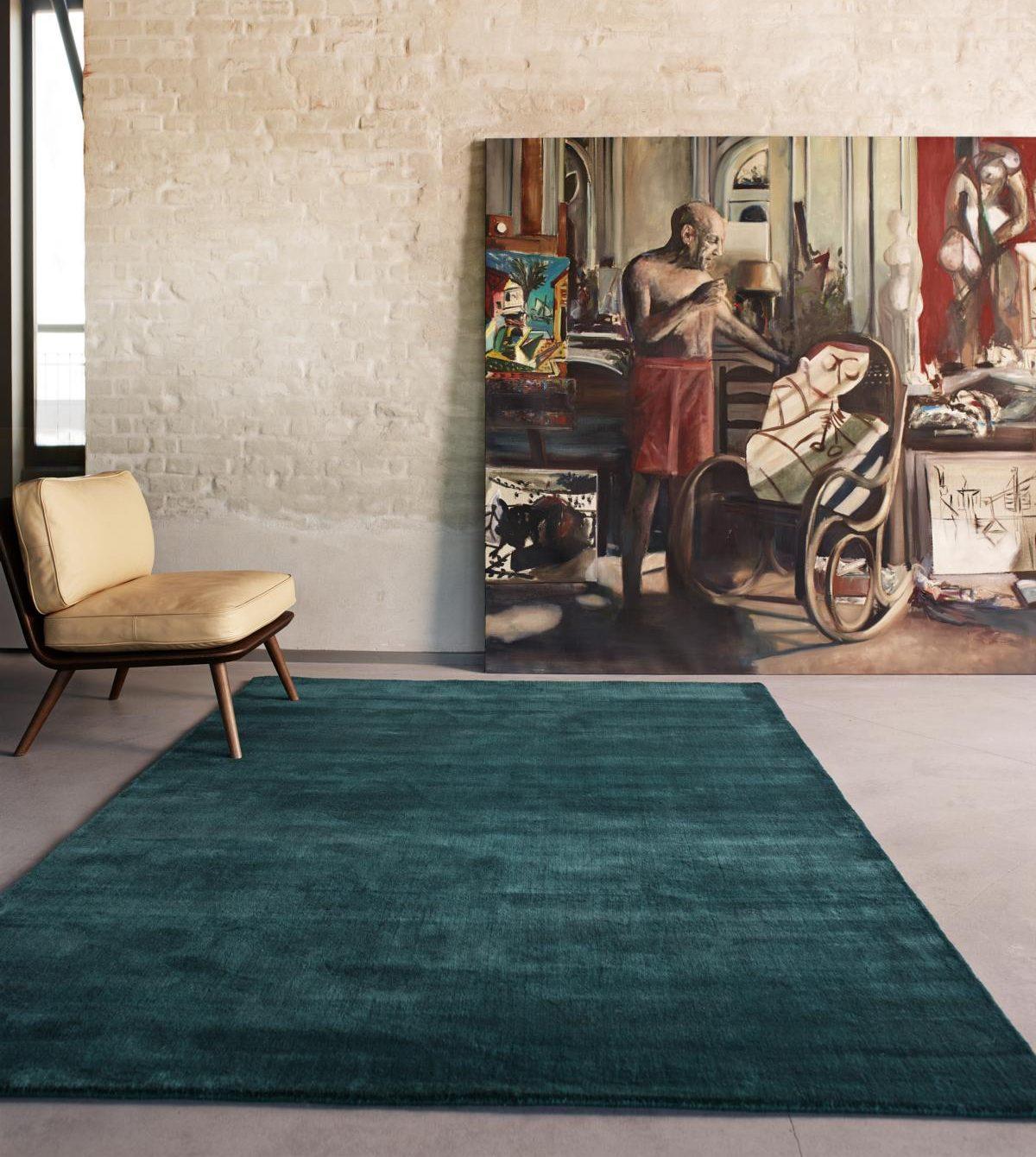 Earth Teppich seagreen von Massimo