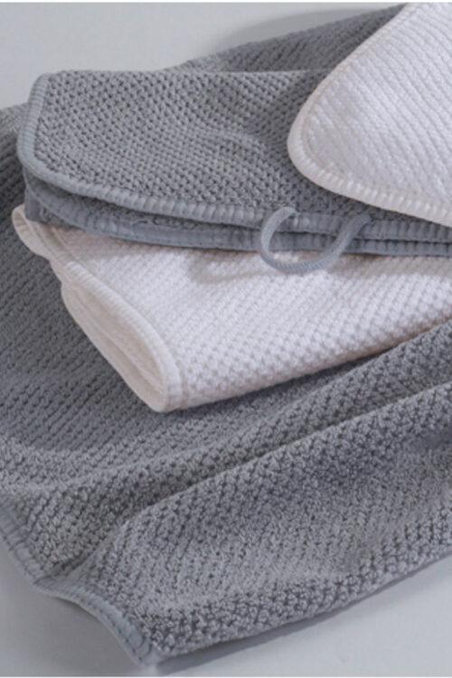 Handtücher und Badvorleger: Handtuch 4er Set aus gekämmter Baumwolle