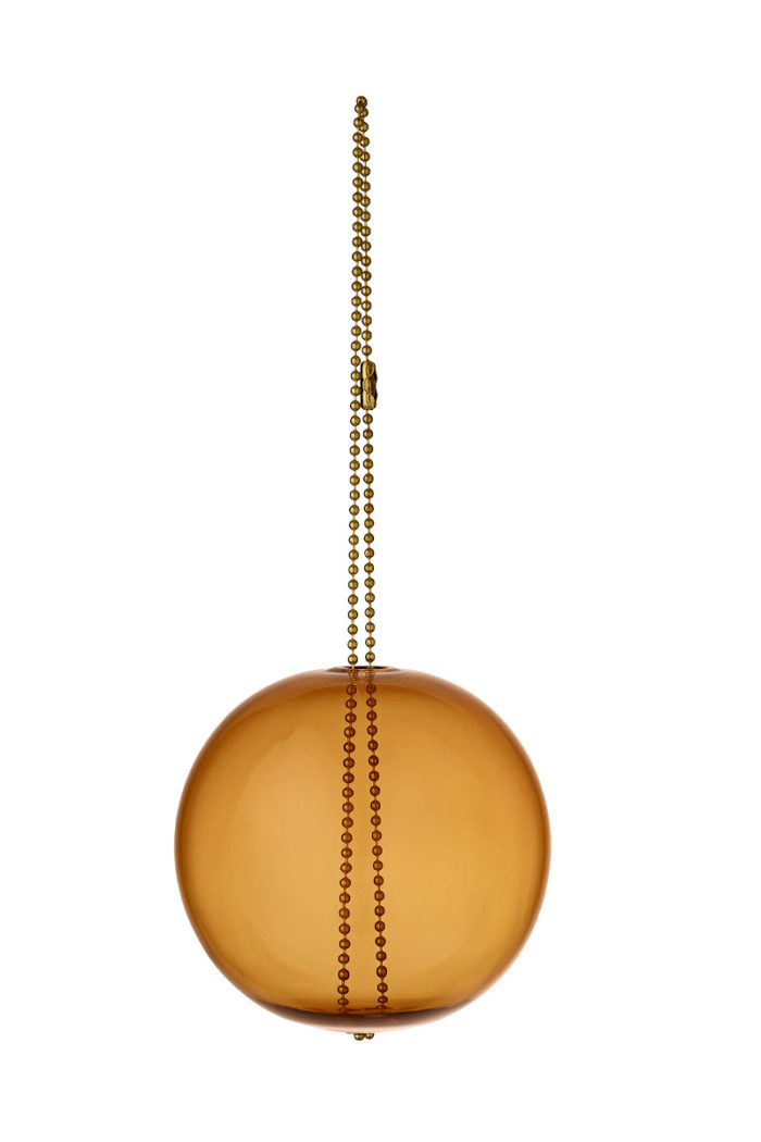 Glasornament Monili amber AYTM