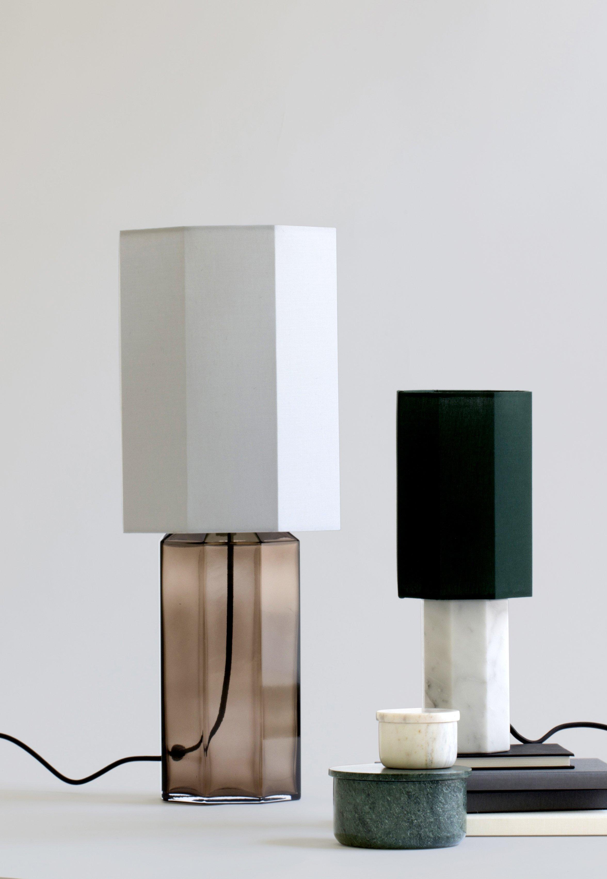 Tischlampe Eight over Eight aus Glas