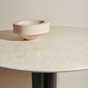Schüssel aus Marmor beige Louise Roe