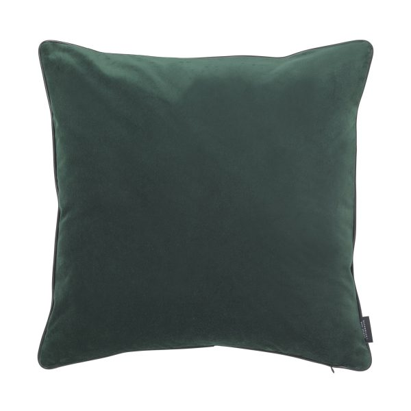 Piping Kissen jadegrün aus Samt