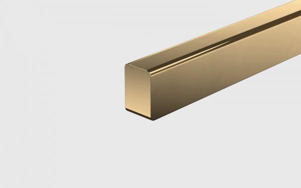 T-Modell Tischleuchte Messing poliert von Anour