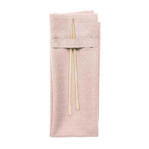 Stoffservietten aus organischer Baumwolle - pale rose