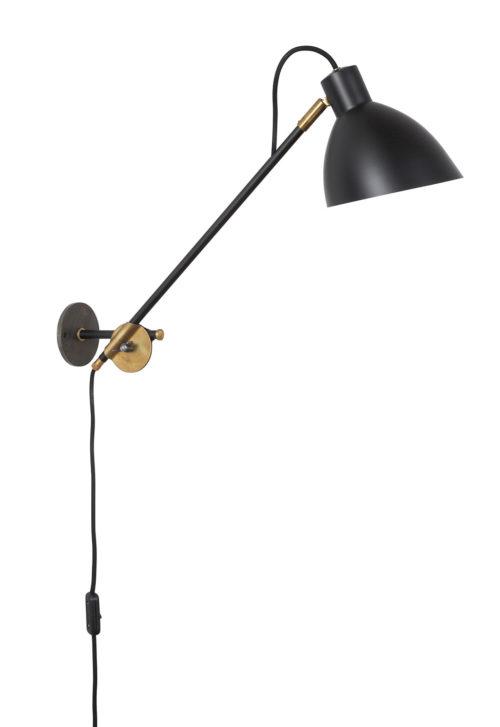 KH#1 Wandlampe mit Langarm schwarz