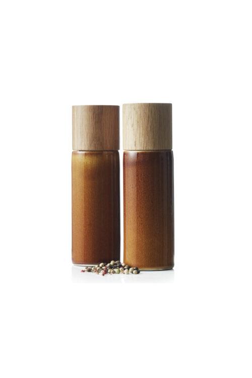 Geschirr: Bitz Salz- und Pfefferstreuer amber