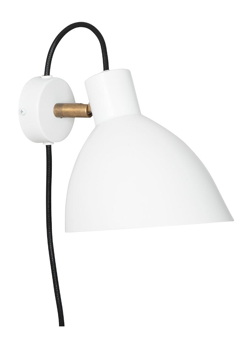 KH#1 Wandlampe weiß von Konsthantverk