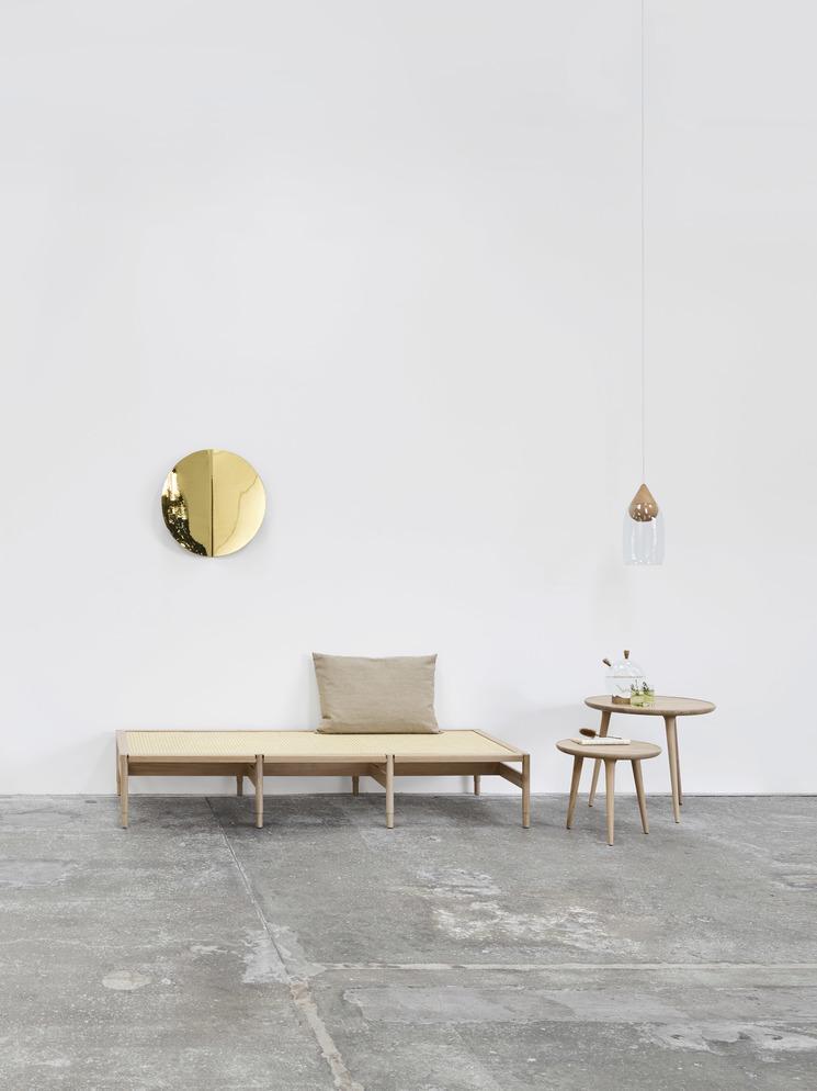 Imago Mirror Object brass von mater design