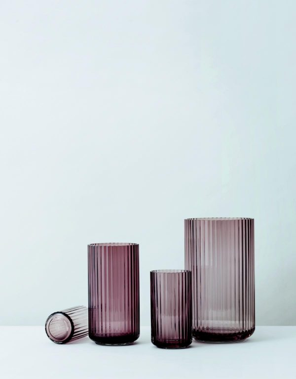 Lyngby Vase burgund mehrere