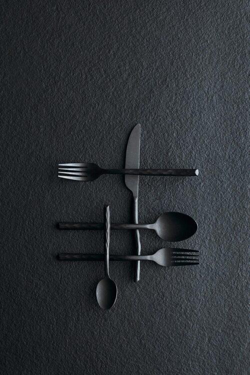 exklusives Besteck - 16-teilige Besteck schwarz muubs