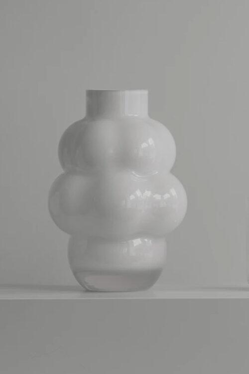 Wohnaccessoires - Vasen - Ballon Vase No 4 opal weiß