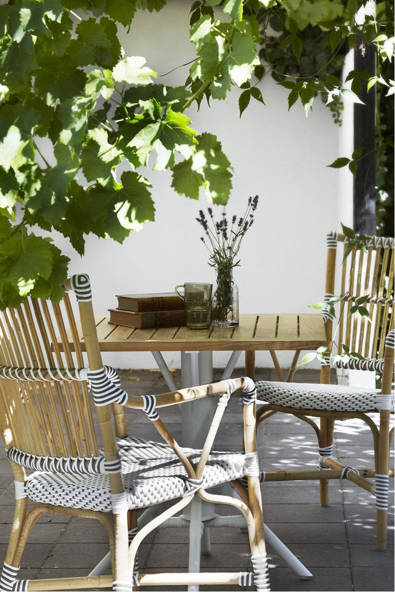 Gartentisch Nicole eckig weiß von Sika Design