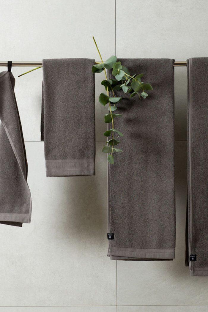 Handtücher und Badvorleger: Handtücher aus Leinenfrottee