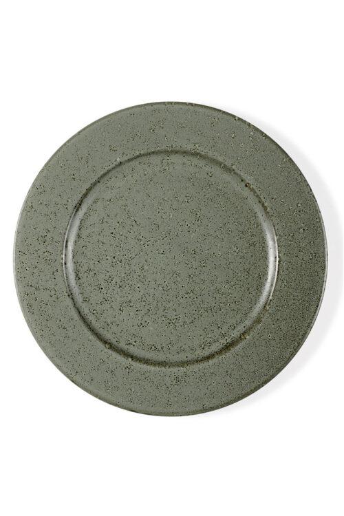 Essteller grün aus Steingut v27 cm Bitz