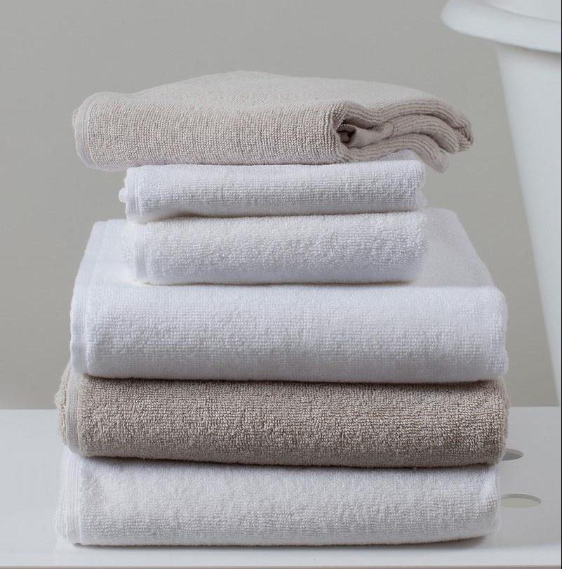 Handtücher und Badvorleger - Gästehandtücher aus Leinenfrottee