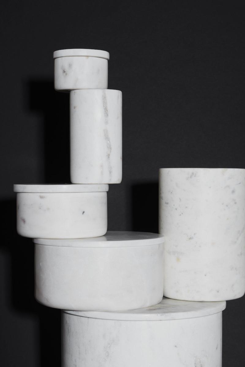 kleine Vase aus Marmor Louise Roe