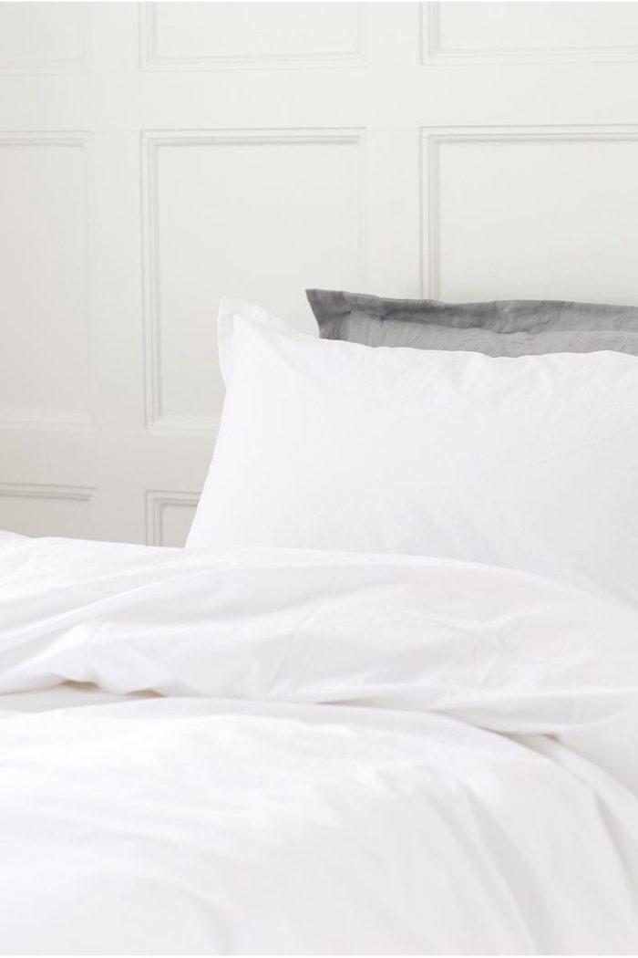 Großer weißer Bettbezug Stonewashed Geismars für zwei Personen
