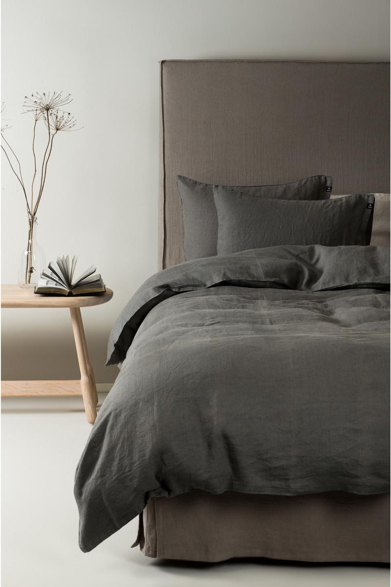 Herrliche Leinenbettwäsche Sunshine - Bettbezug charcoal