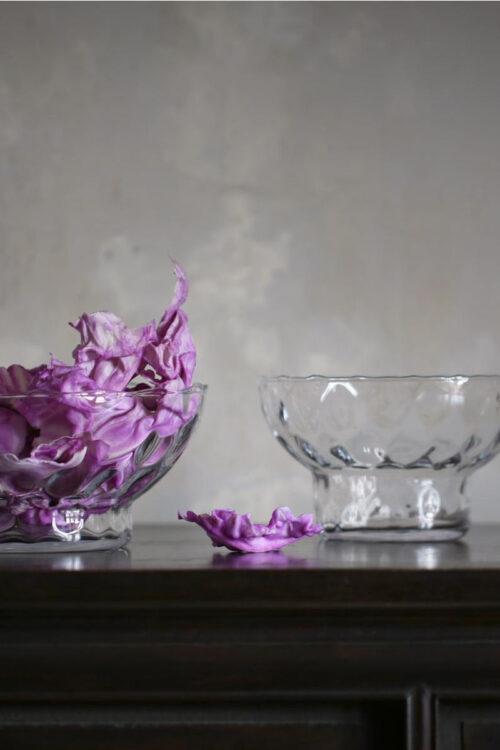 dekorative Schale aus mundgeblasenem Glas von Ro Collection