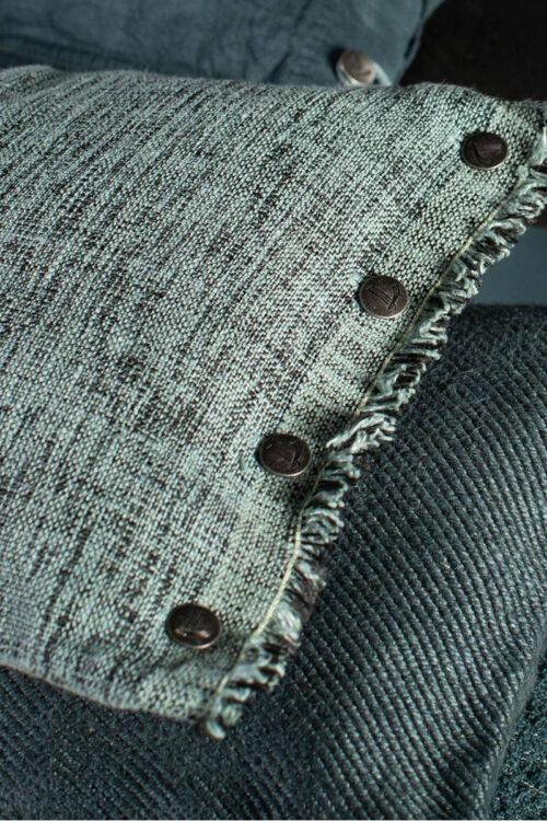 Textilien: Kissen - Kissenhülle Couture Lissoy bleu polaire