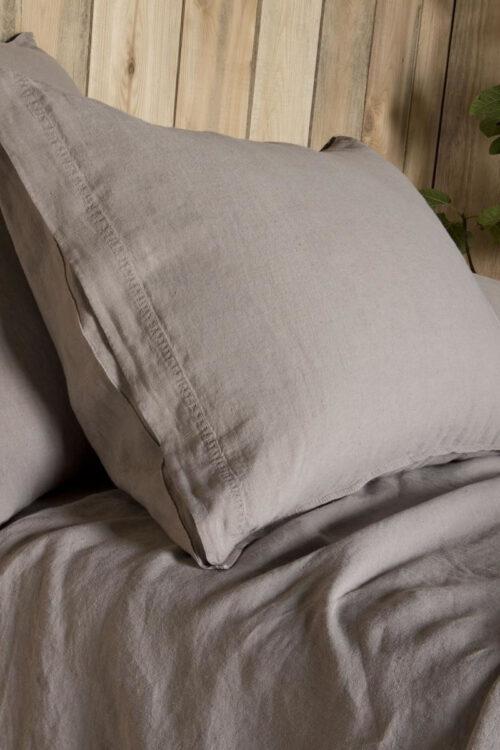 Textilien – Bettwäsche – Leinen Kopfkissen Bezug aus pflanzlichen Farbstoffen von Lissoy