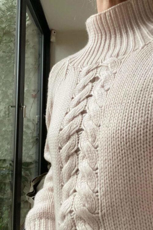 Mode – Pullover – Damen Kaschmir Pullover Dea von Care by me – auf Handstrickmaschine nachhaltig hergestellt