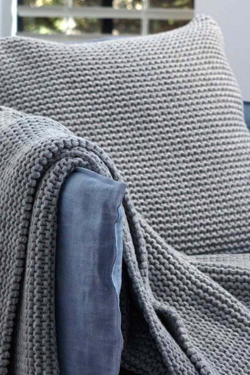 Textilien - Kissen & -füllungen – Dekokissenbezug Devon aus Wolle und Polyamid in fünf Farben