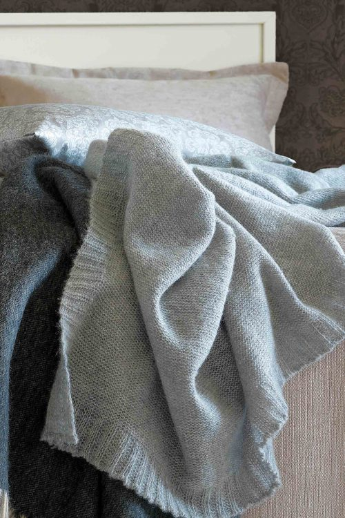 Plaids: Plaid Biella aus 100% Kaschmirwolle