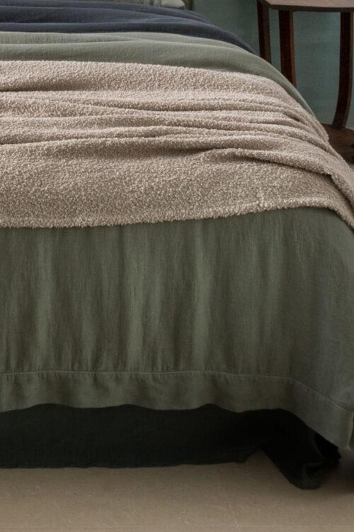 Textilien - Plaids - Plaid Bouclette von Lissoy aus Leinen und Baumwolle