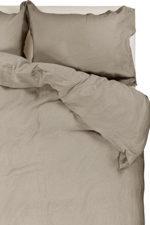 Textilien - Bettwäsche - Bettbezug aus Leinen und Perkal Baumwolle