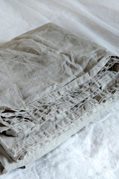 Textilien - Bettwäsche - Laken aus gewaschenem Leinen