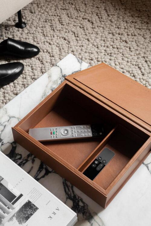 edle Leder Box von August Sandgren zur Aufbewahrung