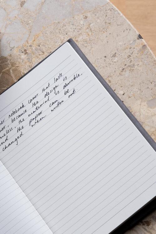 Leder - edles Notizbuch aus Leder von August Sandgren