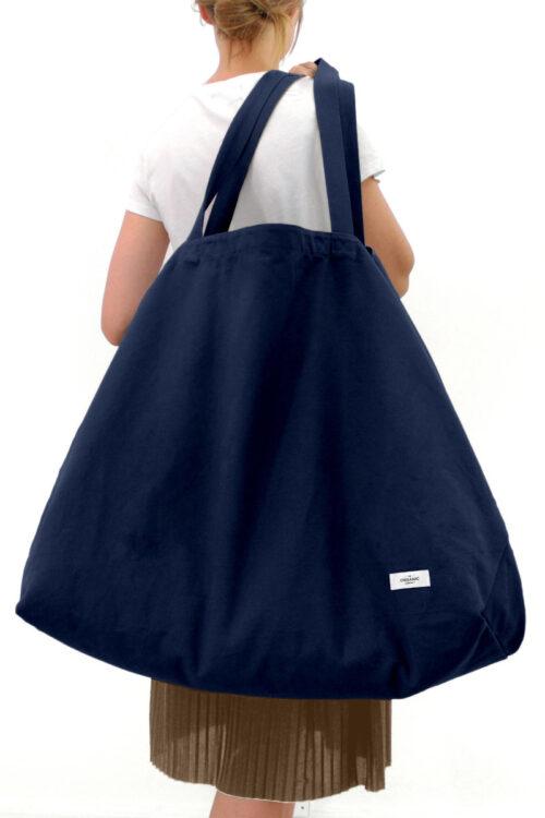 Textilien – Stofftaschen und Schürzen – Große Einkaufstasche Big Long Bag aus organischer Baumwolle in fünf attraktiven Farben