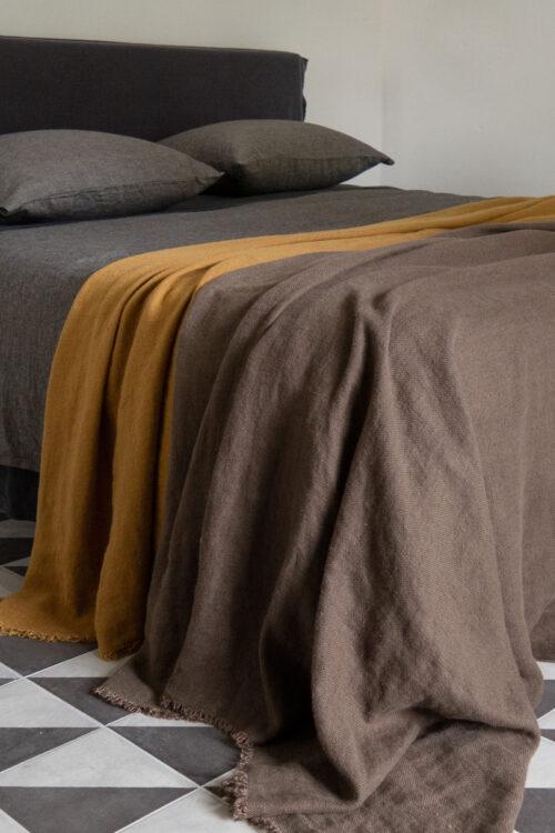 Textilien - Tagesdecken und Plaids - Plaid Lin Ancien aus edlem Leinen von Lissoy in neuen Farben