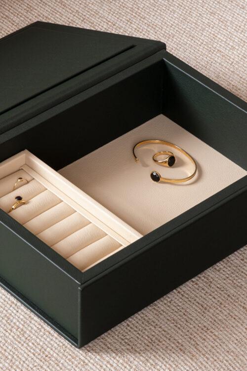 Lederwaren - Elegante Jewel Box von August Sandgren